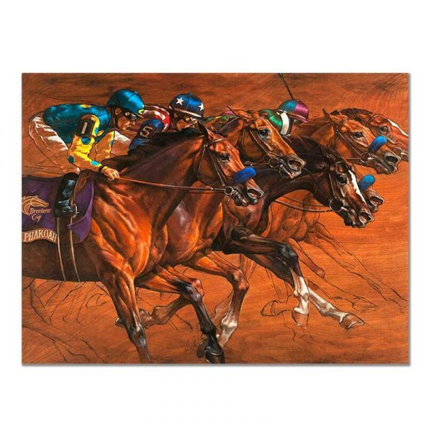 Toile chevaux de course