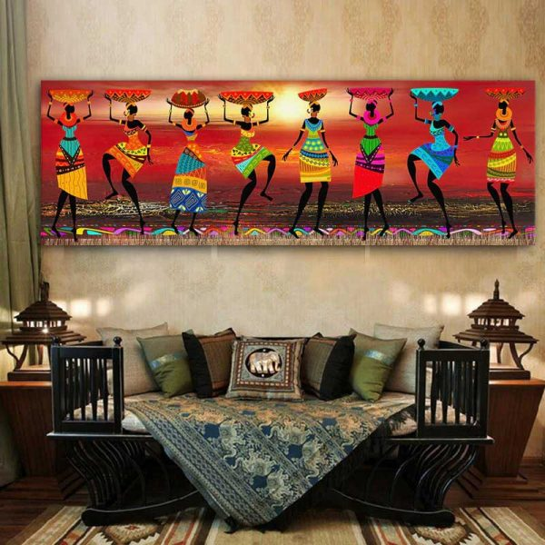 Toile danseuses africaines