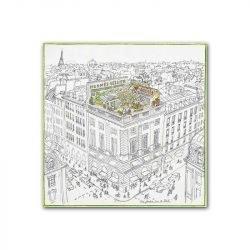 Toile dessin Paris