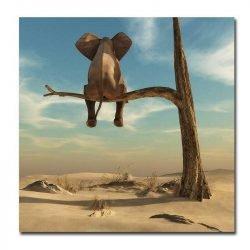 Toile éléphant sur une branche