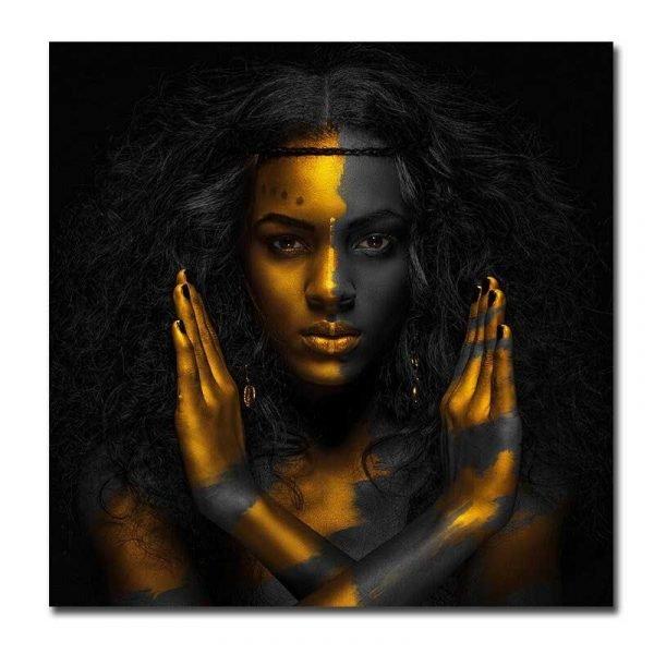 Toile femme africaine moderne