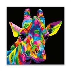 Toile girafe pop art