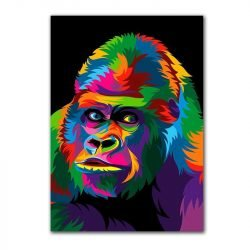 Toile gorille pop art