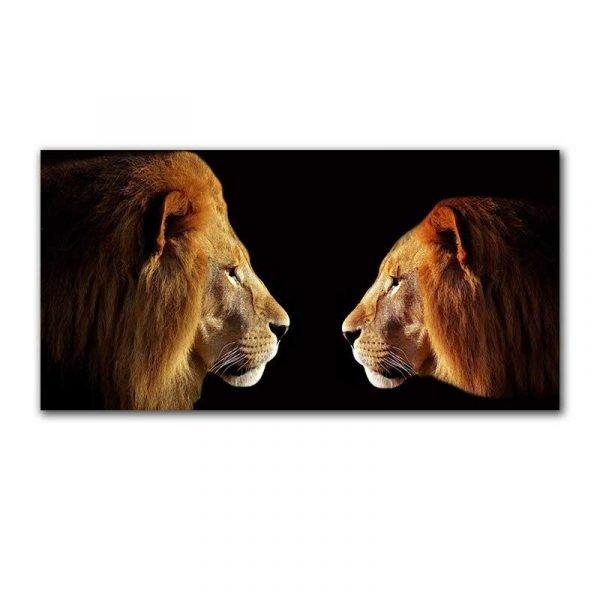 Toile lion et lionne