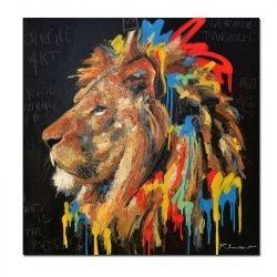 Toile lion street art