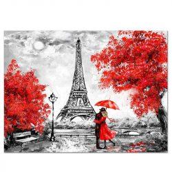 Toile peinture tour Eiffel