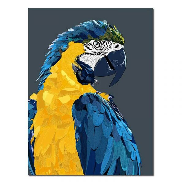Toile perroquet pop art