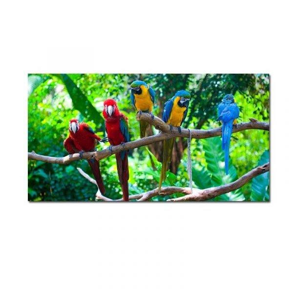 Toile perroquets jungle