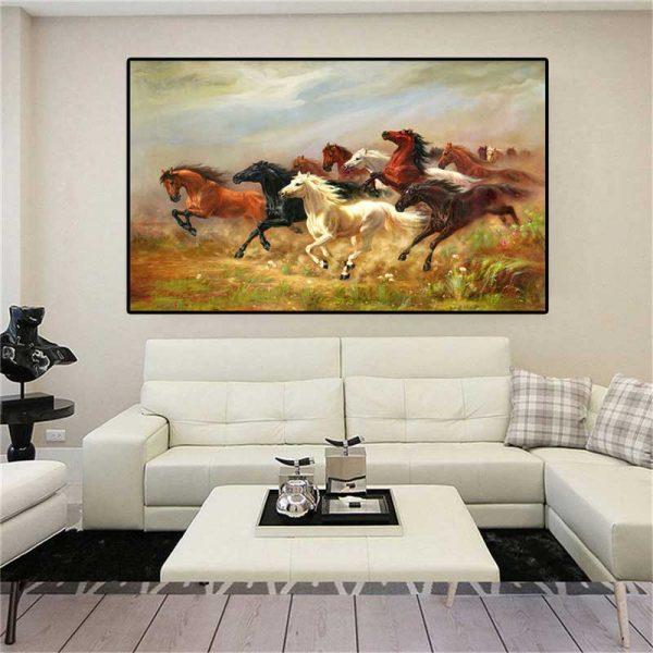 Peinture chevaux sauvages