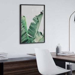 Tableau photo feuille de bananier