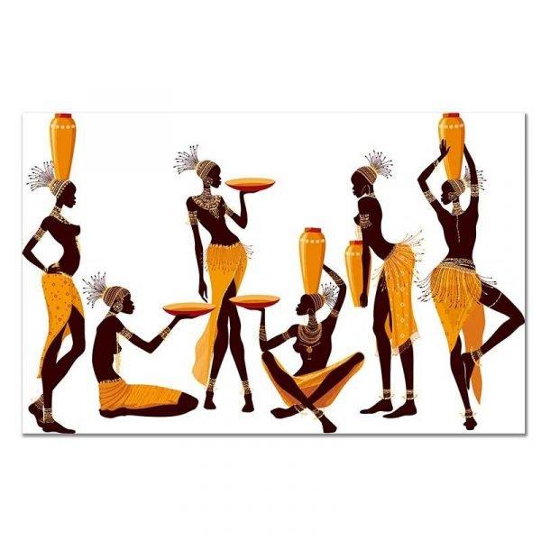 Tableau sur toile femmes africaines porteuses d'eau