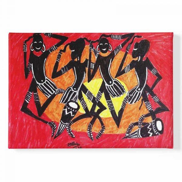 Tableau sur toile tribu africaine