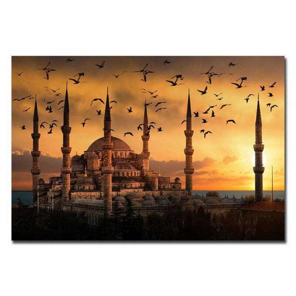 Toile mosquée bleue