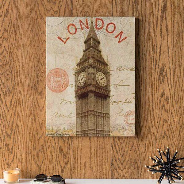 Affiche déco Londres vintage