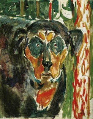 peinture chien art