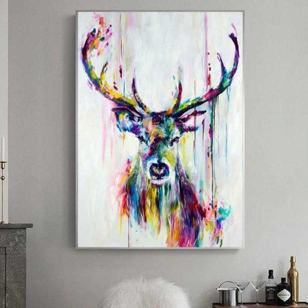 Peinture cerf