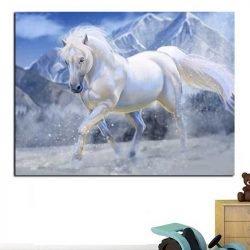 Peinture cheval blanc