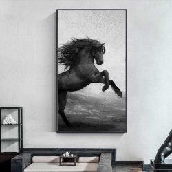 Peinture cheval qui se cabre
