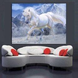 Peinture déco cheval blanc