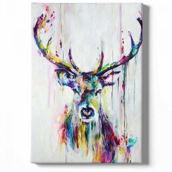 Peinture sur toile cerf