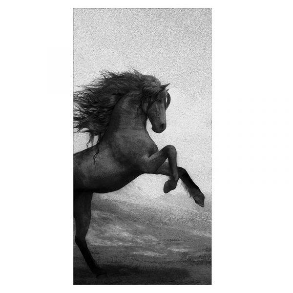 Peinture sur toile cheval qui se cabre