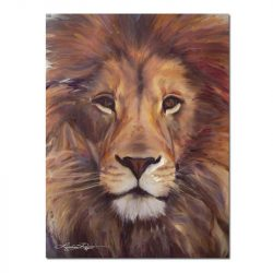 Peinture sur toile tête de lion