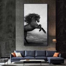 Peinture déco cheval qui se cabre