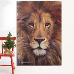 Peinture tête de lion