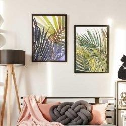 Tableau feuilles et plantes tropicales