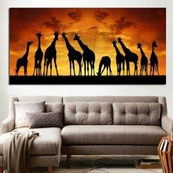 Tableau africain girafes