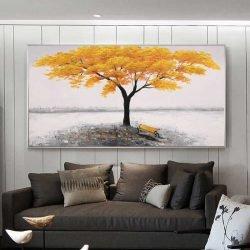 Tableau arbre jaune