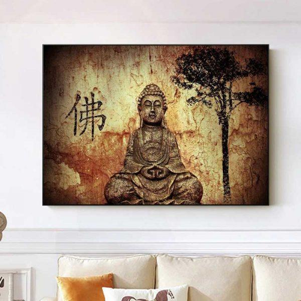 tableau bouddha