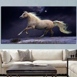 Tableau cheval au galop