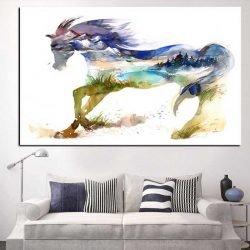 Tableau cheval original
