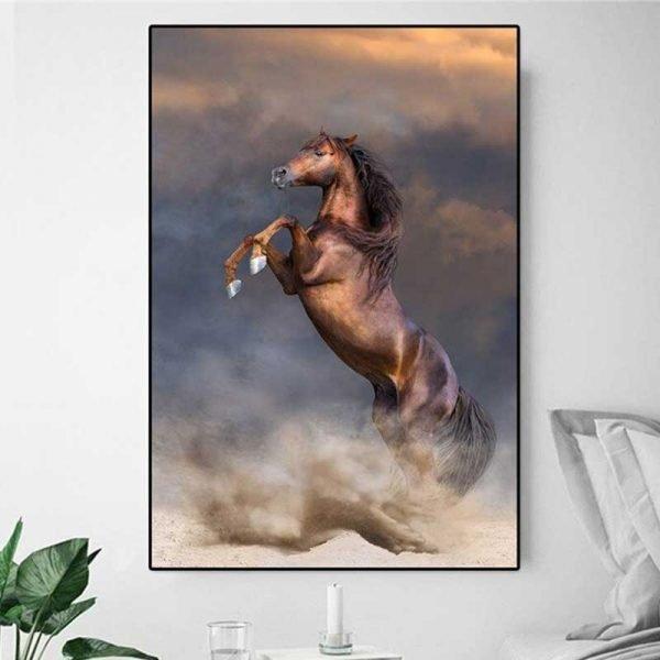Tableau cheval qui se cabre