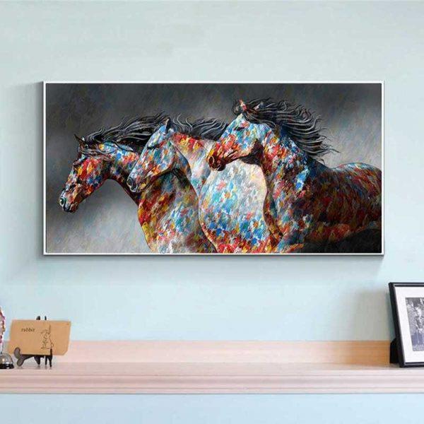 Tableau chevaux couleur