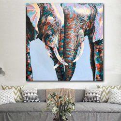 Tableau couple éléphant