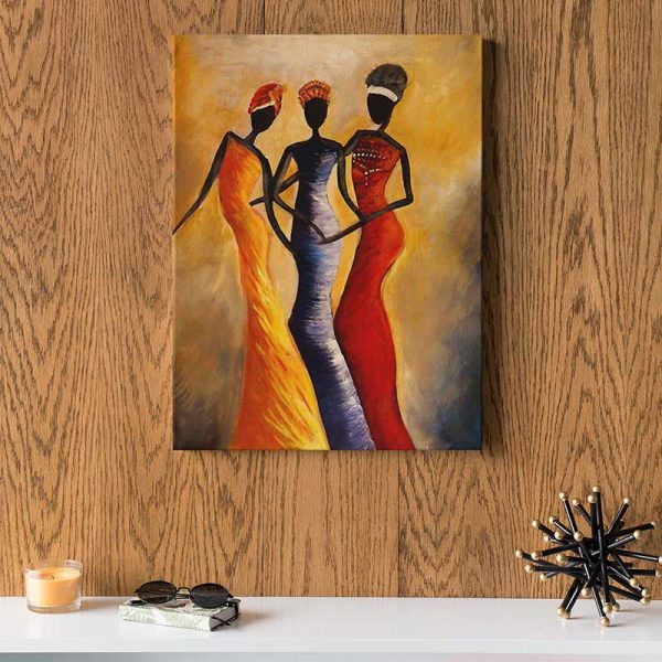 Tableau déco 3 femmes africaines