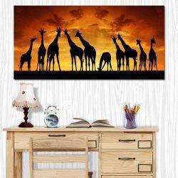 Tableau déco africain girafes