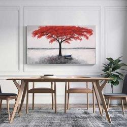 Tableau déco arbre rouge