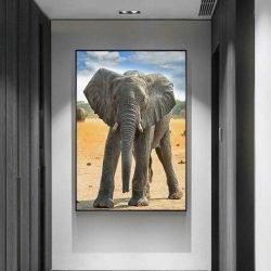 Tableau déco bébé éléphant