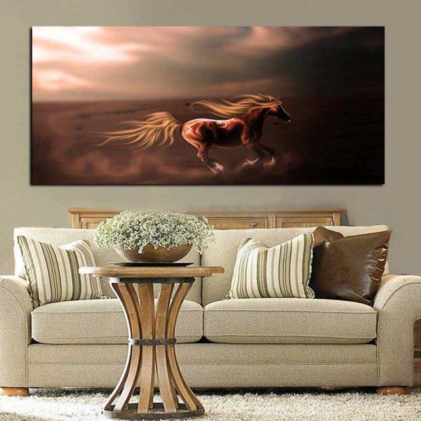Tableau déco cheval design