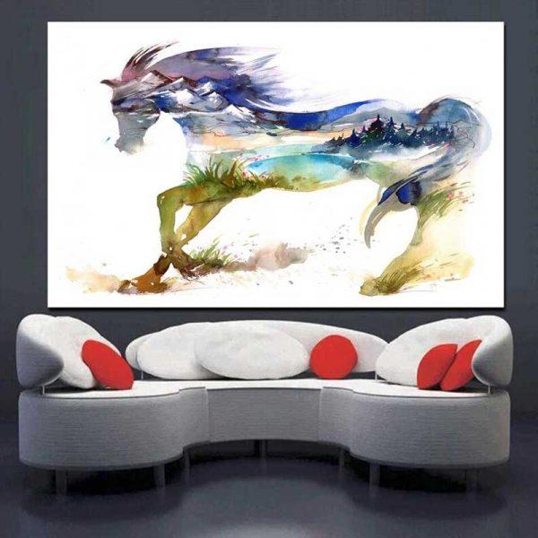 Tableau déco cheval original