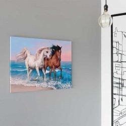 Tableau déco cheval plage