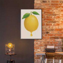 Tableau déco citron jaune