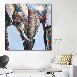 Tableau déco couple éléphant