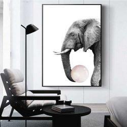 Tableau déco éléphant chewing gum