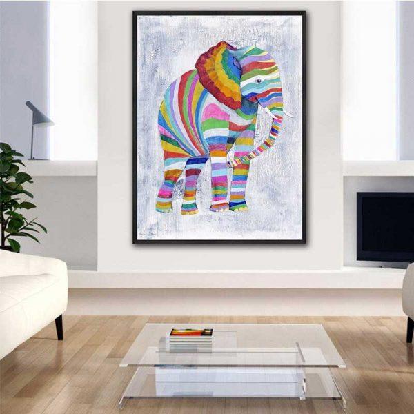 Tableau déco éléphant coloré