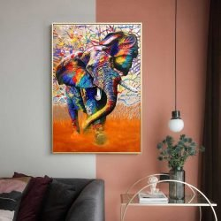 Tableau déco éléphant moderne