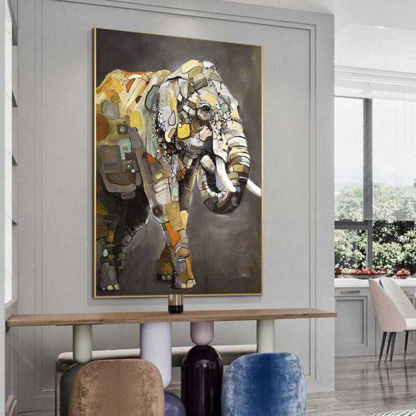 Tableau déco éléphant relief